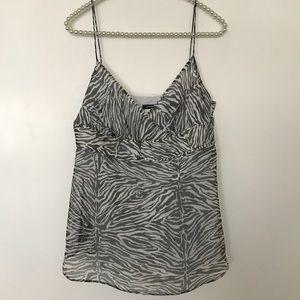 J. Crew Zebra 100% Silk Camisole 🦓